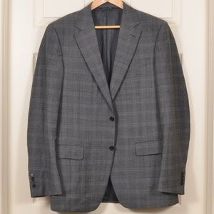 🇮🇹 Canali 52R/42R Suit Wool Gray-Check